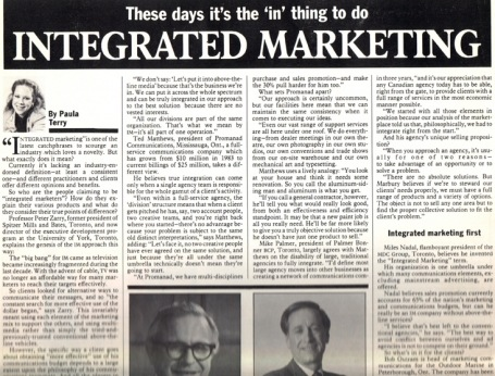 <b>Integrated Marketing — Marketing magazine</b><br>--