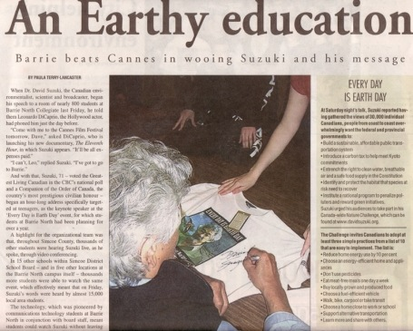 <b>David Suzuki — The Barrie Advance</b>--