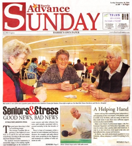 <b>Seniors' Issues — The Barrie Advance</b>--